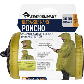 Sea to Summit 15D Poncho, lime